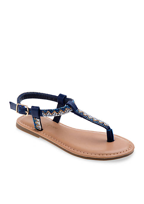 Nanette Lepore Girl Girls Embroidered Thong Sandals-