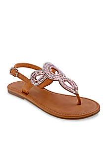 Girls Beaded Thong Sandals- Toddler/Youth