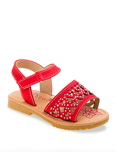 Josmo Cut-Out Heart Sandals Toddler Girls