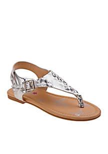 Girl's Metallic Thong Sandal - Toddler/Youth