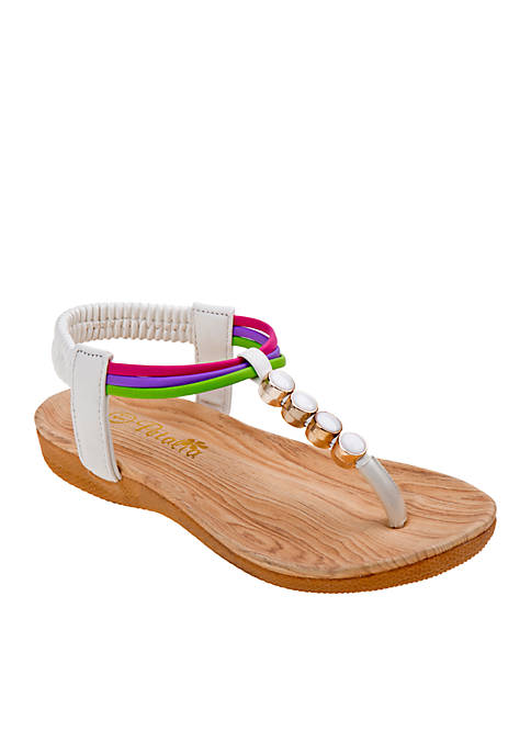 Josmo Girls Multicolored Thong Sandal
