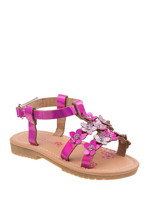 Josmo Toddler/Youth Girls Petalia Strappy Sandals