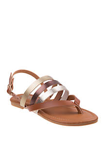 Josmo Youth Girls Petalia Thong Sandals