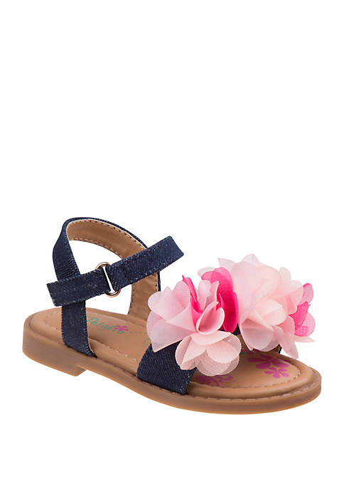 Josmo Toddler Girls Petalia Fabric Sandals