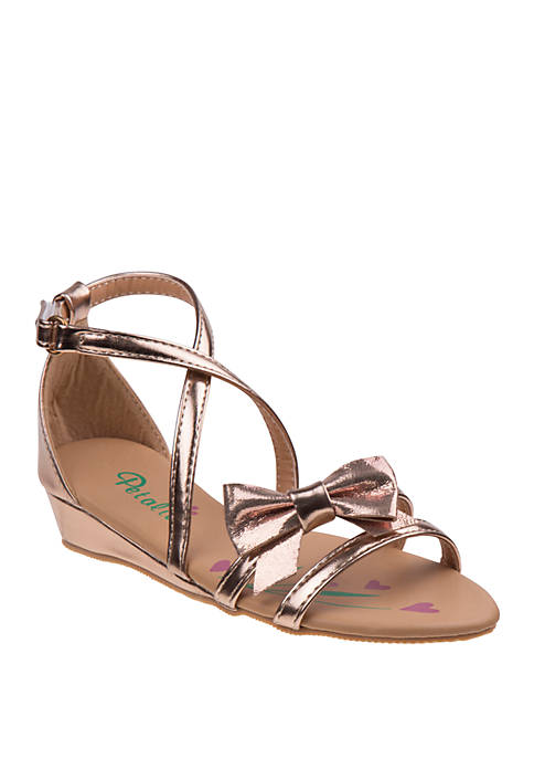 Josmo Youth Girls Petalia Bow Sandals