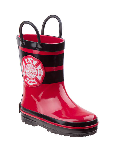 Josmo Toddler/Youth Boys Joseph Allen Fireman Rain Boots