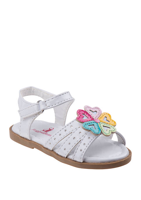 Josmo Toddler/Youth Girls Rugged Bear Flower Sandals