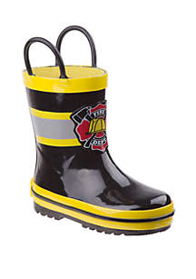 Josmo Toddler/Youth Boys Joseph Allen Fireman Rain Boots