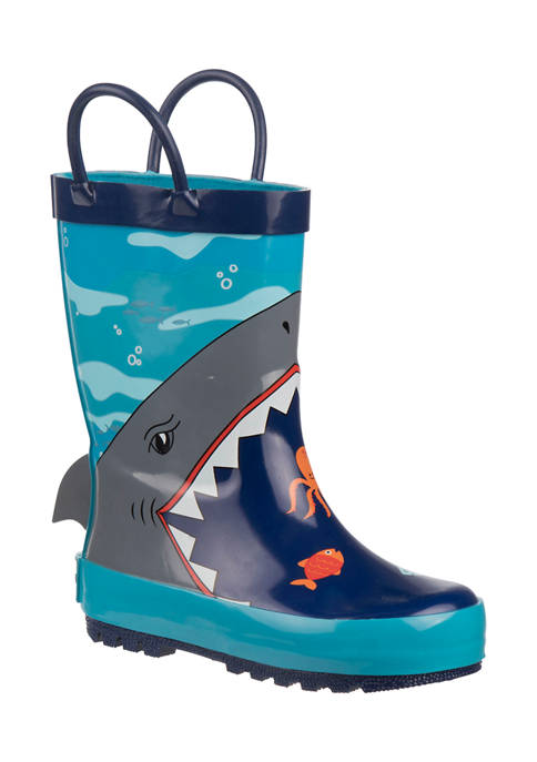 Rugged Bear Toddler Boys Rain Boots with Loops