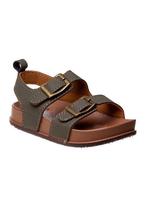 Toddler Boys Adjustable Buckle Footbed Sandals