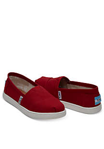 Red Canvas Toms Youth Classics 2.0 Shoe