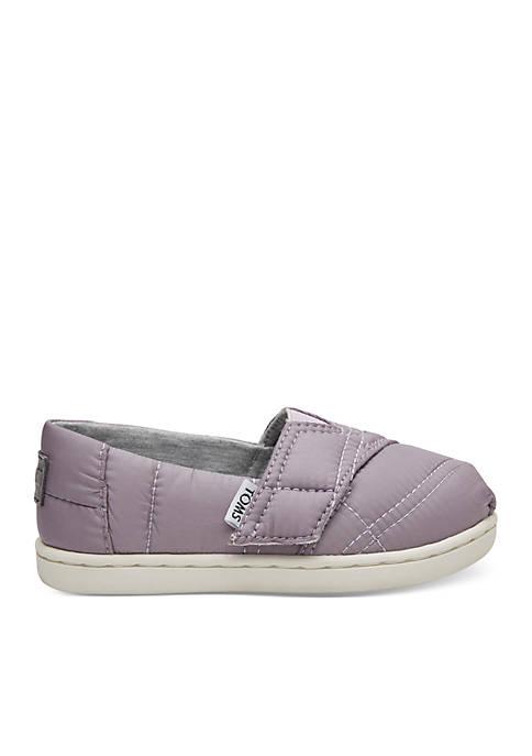 TOMS® Girls Lavender Quilted Alpargata Shoes