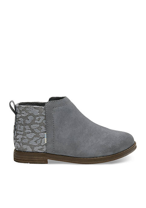 TOMS® Girls Suede and Cheetah Dela Booties