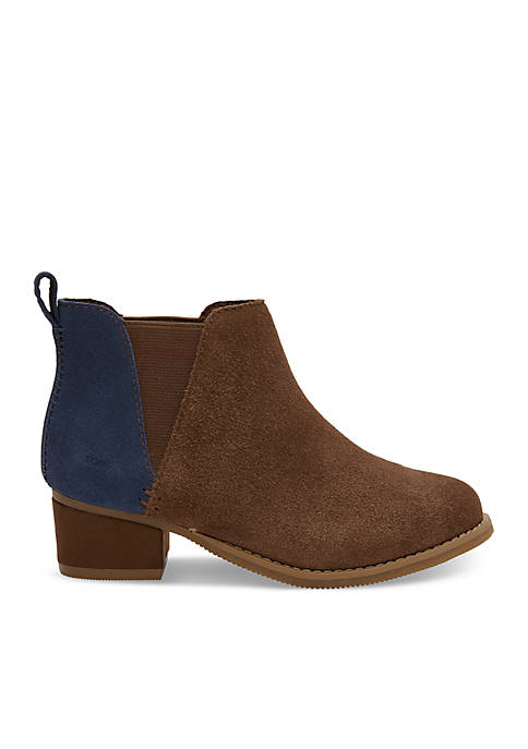 TOMS® Girls Bark Suede Youth Esme Booties