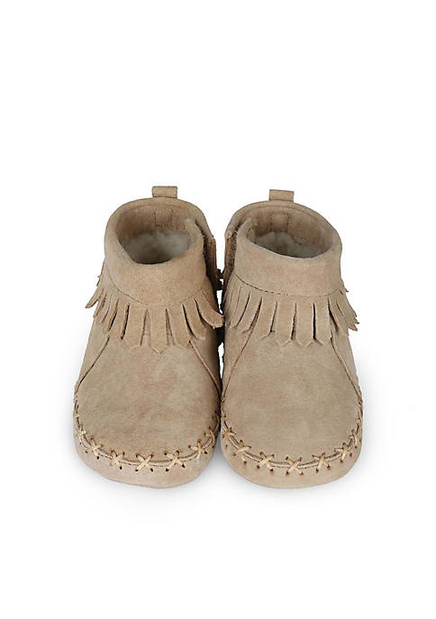 Robeez® Cozy Ankle Soft Sole Moccasins