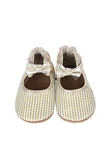 Triangle Print Mary Jane Soft Sole Shoe