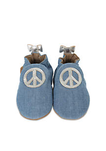 Girls Peace Out Soft Sole Shoes-Infant/Toddler