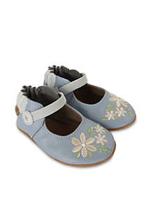 Girls Pretty in Blue Soft Sole Shoes-Infant/Toddler