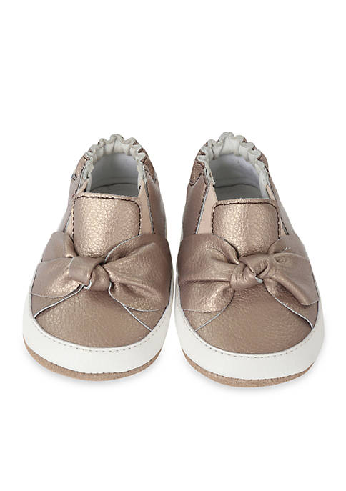Robeez® Girls Bellas Bow Mini Shoes Infant/Toddler