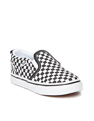 987bb01e9c VANS® Asher Checkered Sneakers - Boys Toddler Youth