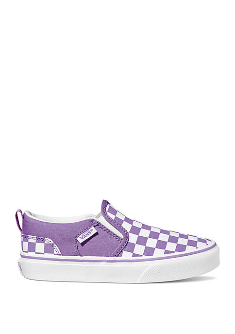 Youth Girls Asher Checkerboard Sneakers