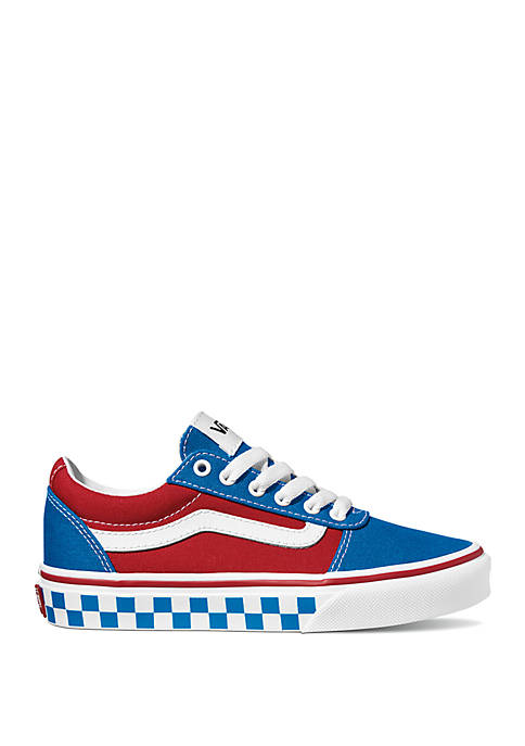 Youth Boys Ward Checkered Racing Sneakers
