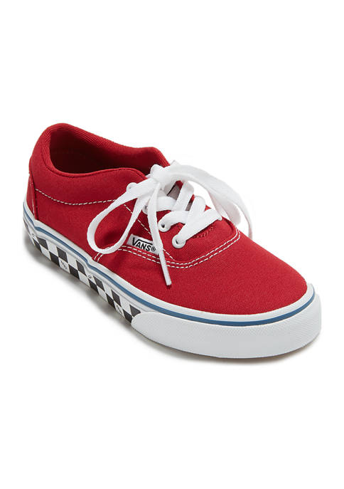 Youth Girls Doheny Red Check Sidewall Sneakerd