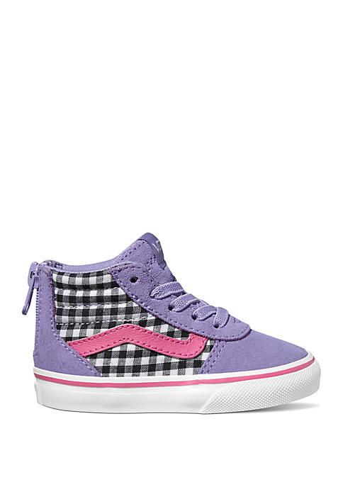 Toddler Girls Purple Gingham Ward Sneakers
