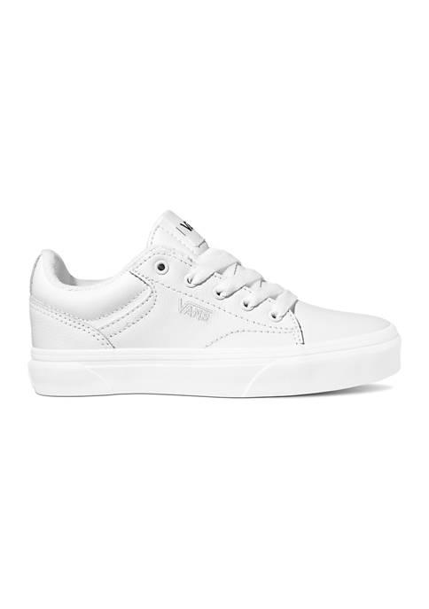VANS® Youth Boys Seldan Tumble Leather Sneakers