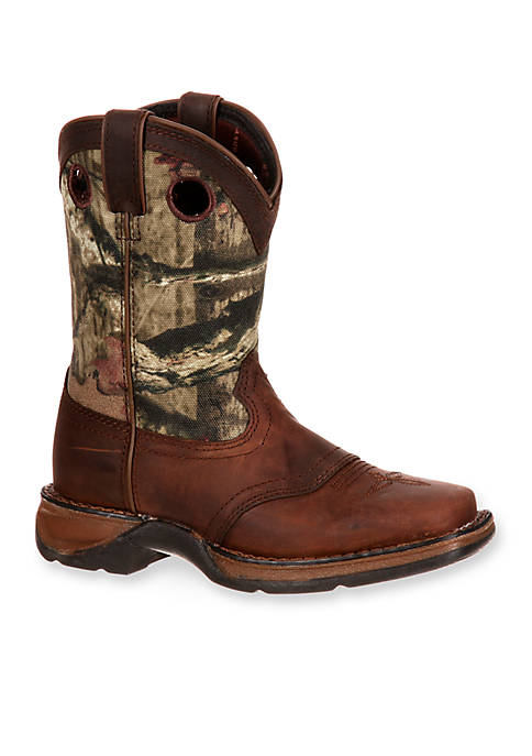 DURANGO® Lil Rebel Camo Saddle Western Boot-Youth Sizes