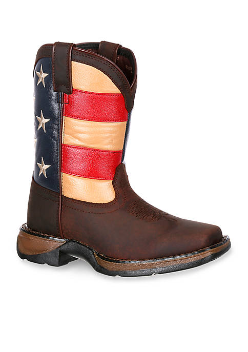 DURANGO® Lil Rebel Flag Western Boot- Toddler-Youth Sizes