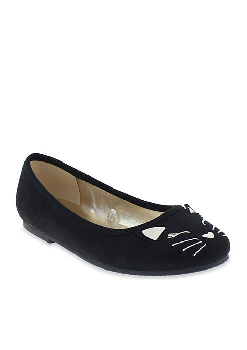 Toddler/ Youth Girls Winky Cat Flats