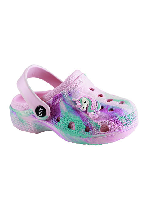 Capelli New York Toddler Girls Jelly Patch Clogs