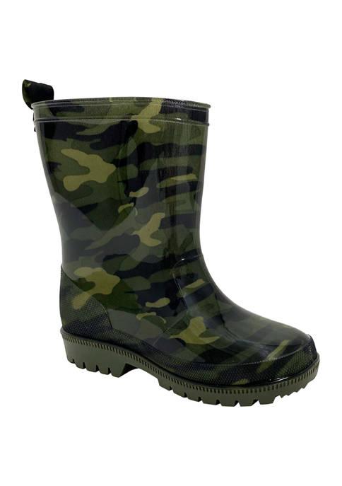 Capelli New York Youth Boys Camo Rain Boots