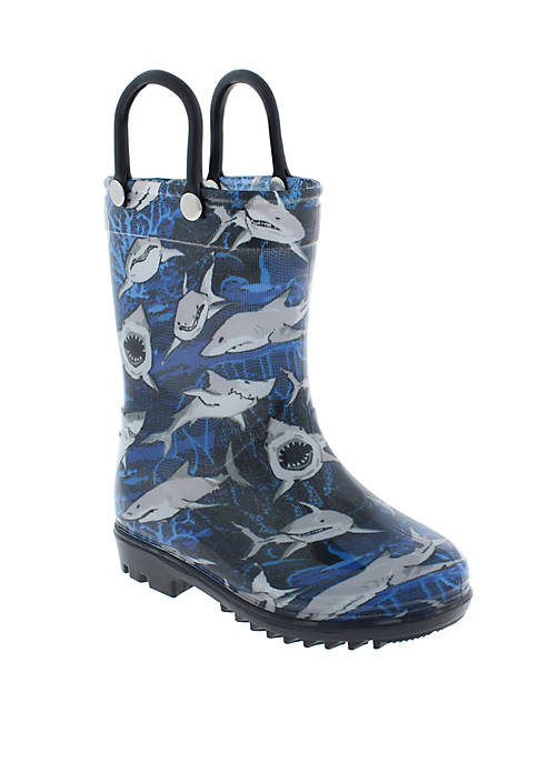 Capelli New York Toddler Boys Shark Rain Boots