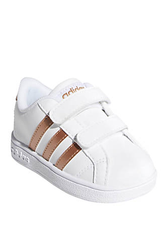 adidas Toddler Girls Baseline INF Gold Sneakers