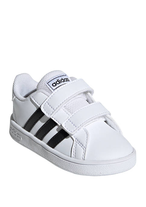 Boys Toddler Black and White Grand Court I Sneakers