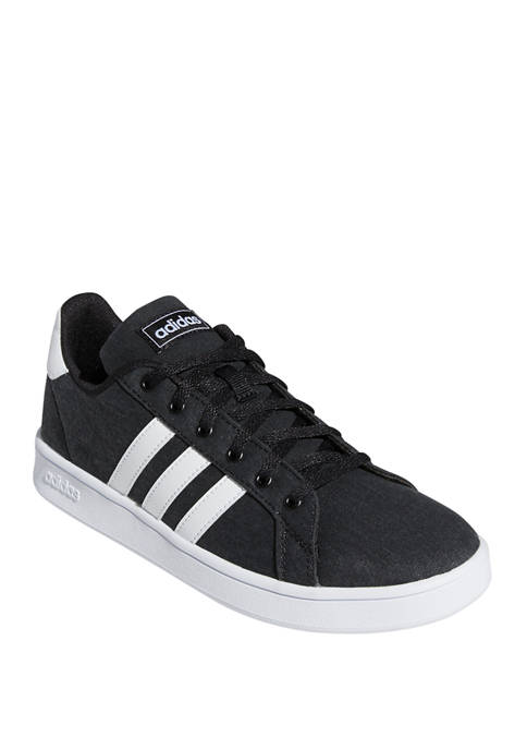 adidas Boys Youth Black and White Grand Court