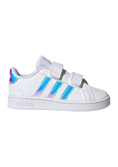 adidas Youth Girls Grand Court Blue Sneakers