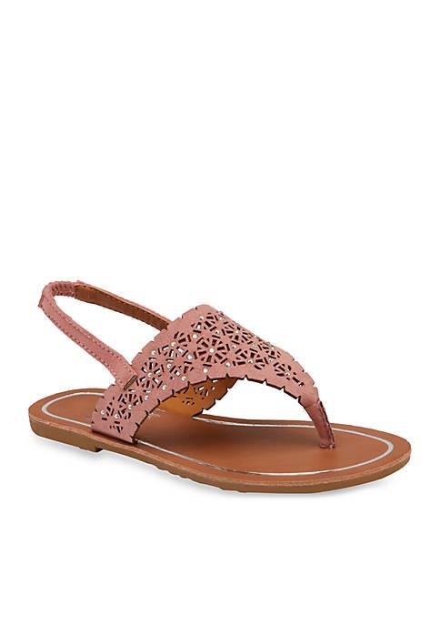 Olivia Miller Girls T Strap Sandals