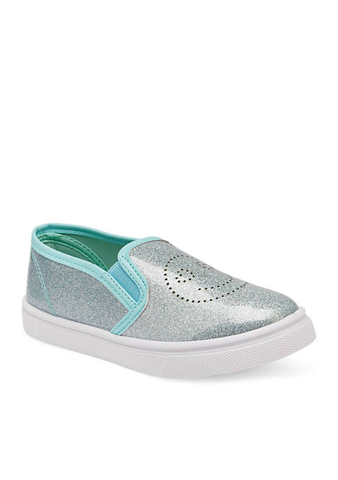 Olivia Miller Girls Biquet Slip On Sneakers- Youth