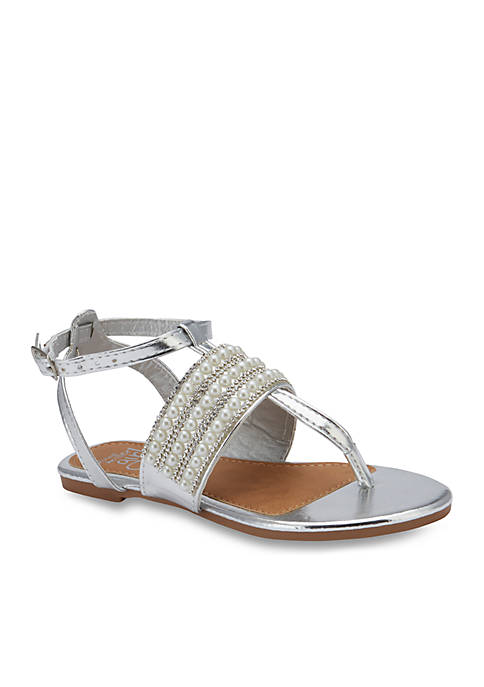 Olivia Miller Girls Brisee T-strap Sandals- Youth