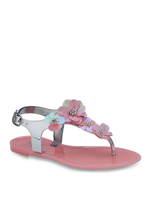 Olivia Miller Toddler/Youth Girls Ange T-Strap Sandals