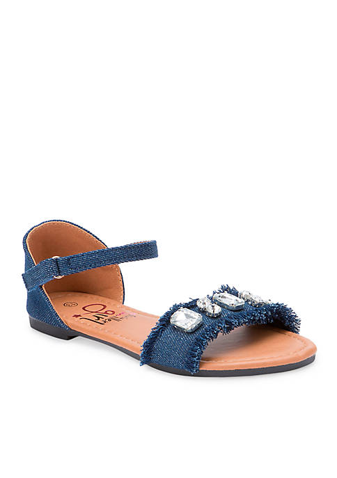 Olivia Miller Girls Denim Sandal