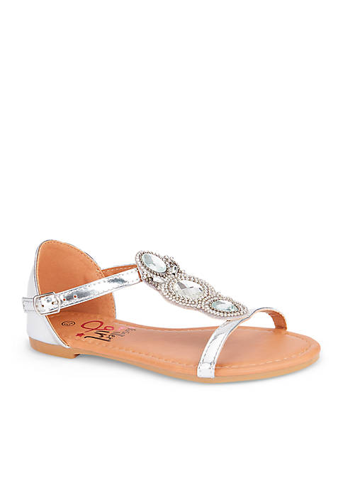 Olivia Miller Girls Sandal with Stones