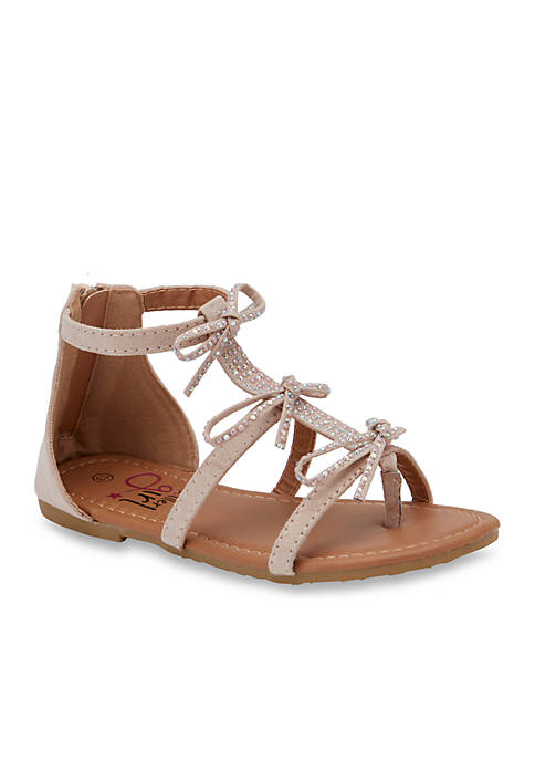 Olivia Miller Girls Sandals with Bows