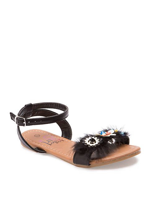 Olivia Miller Marabou Sandal