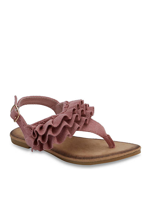 Olivia Miller Toddler/Youth Girls Ruffle Sandals