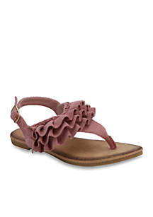 Toddler/Youth Girls Ruffle Sandals