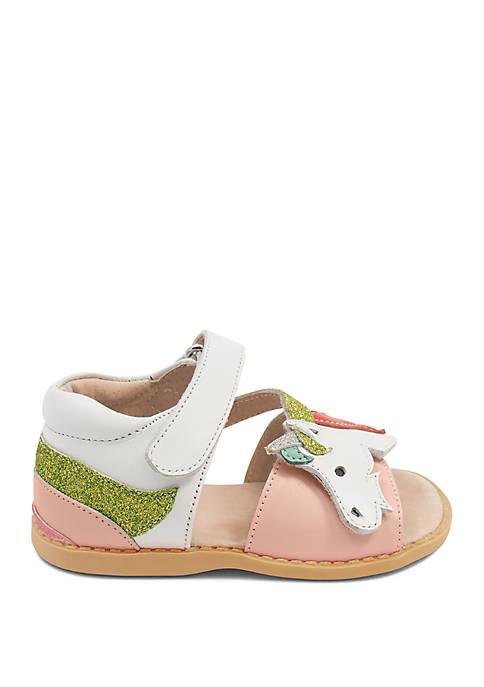 LIVIE & LUCA Girls Toddler/Youth Unicorn Sandals